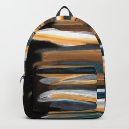 Brush Strokes on a Black Background Backpack