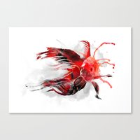 goldfish Canvas Prints featuring Goldfish by Robert Farkas