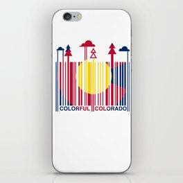 Colorful Colorado Barcode Flag iPhone Skin