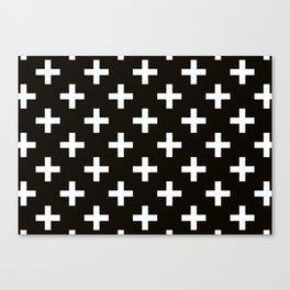 Crosses | Criss Cross | Plus Sign | Hygge | Scandi | Black and White | Canvas Print