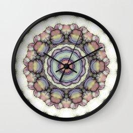 Abstract flowers mandala Wall Clock