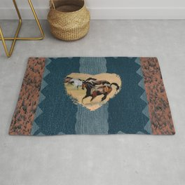 Horse and Western Theme Rug