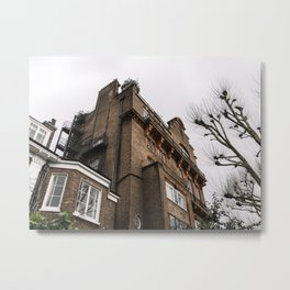 Old Apartment Building in Notting Hill Metal Print