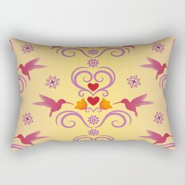 Damask pattern background Rectangular Pillow