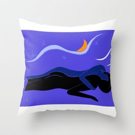 Couple under the Starry Sky, v. 01 Throw Pillow