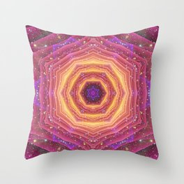 Star Gate Mandala Throw Pillow