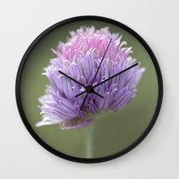 clover Wall Clocks featuring Clover by Fran Walding