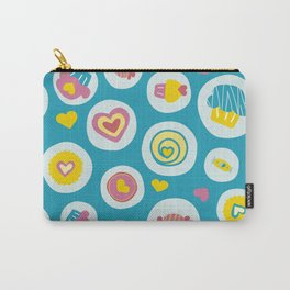 Blue circles sweet love  Carry-All Pouch