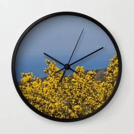 Landscape on mountain with blue sky Wall Clock