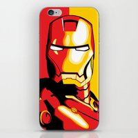 iron man iPhone & iPod Skins featuring Iron Man by C.Rhodes Design