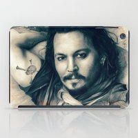 johnny depp iPad Cases featuring Johnny Depp II. by Thubakabra