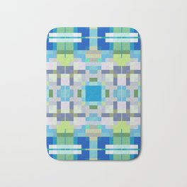QUADRANGLE cool blue green tones in geometric design Bath Mat