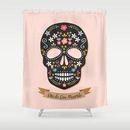 Sugar Skull – Dia de Los Muertos Shower Curtain