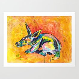 Earth Pig (Aardvark) Art Print
