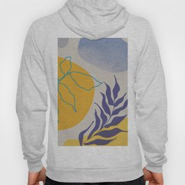 Nature shapes and plants in blue III Hoody