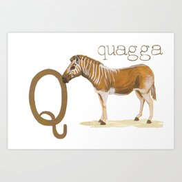 Q is for Quagga Art Print