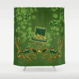 Happy st. patricks day Shower Curtain