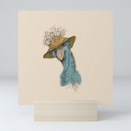 Bird in Hat 4 Mini Art Print