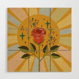 Sun rose Wood Wall Art