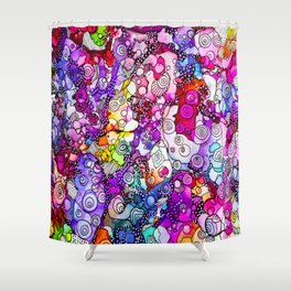 Heavenly Doodles  - Many Eyes Version 2 Shower Curtain