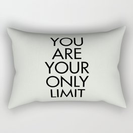 You are your only limit, inspirational quote, motivational signal, mental workout, daily routine Rectangular Pillow