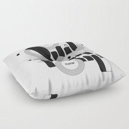 Quit Playin' (Black & White) Floor Pillow