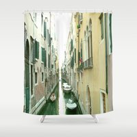 italy Shower Curtains featuring italy by Harriet Hendricks