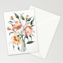 Loose Floral on Yupo Stationery Cards