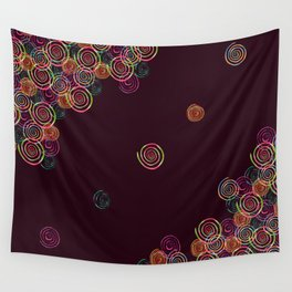 Colourful Spirals Wall Tapestry