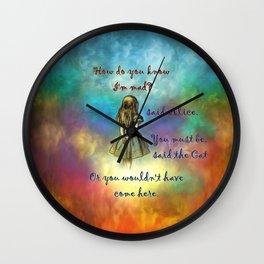 Wonderland Time - Alice In Wonderland Quote Wall Clock
