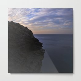 Sunrise at the Big cliff.. Mystical beaches. At sunrise Metal Print