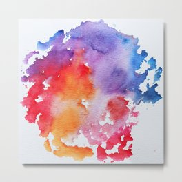 Vivid - abstract painting with pink, purple, red, orange, blue colors that pop Metal Print