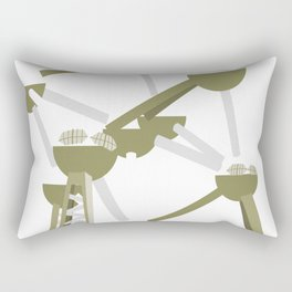 atomium brussels arts Rectangular Pillow