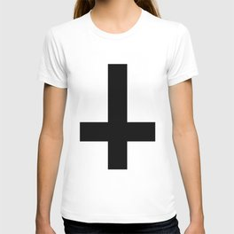 """inverted cross"" T-shirt"