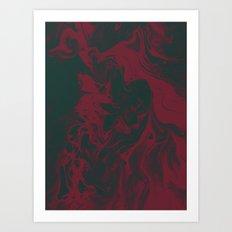 Cranberry and Evergreen Art Print