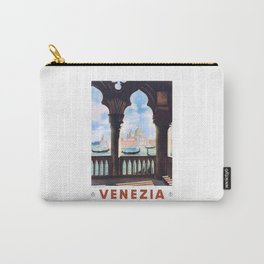 1938 ITALY Venice Venezia Travel Poster Carry-All Pouch