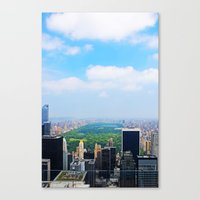 central park Canvas Prints featuring Central Park by NaturallyJess
