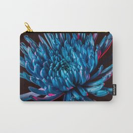 Blue Spider Mum Flower Carry-All Pouch