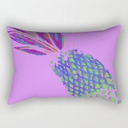 Neon Pineapple Punch on textured pink Rectangular Pillow