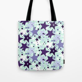 Fun pattern with stars and twinkle lights Tote Bag
