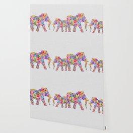 Floral Elephants Wallpaper