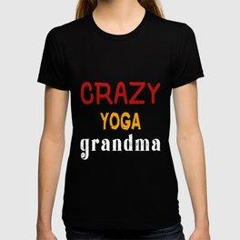 Crazy Yoga Grandma T-shirt