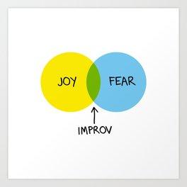 The Venn of Improv (Yellow/Blue) Art Print