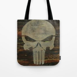 Apocalyptic Punisher painting Tote Bag