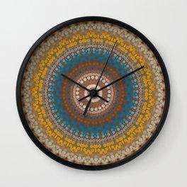 New Color Pyramidal Mandala 47 Wall Clock