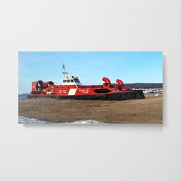 Hovercraft on the Beach Metal Print