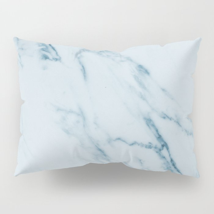 Teal Swirl Marble Pillow Sham