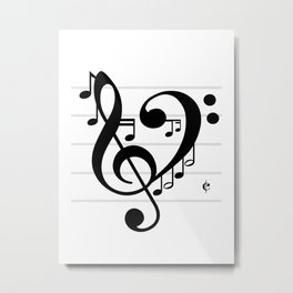 Love Music II Metal Print