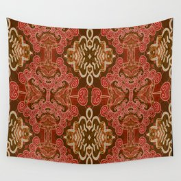 Celtic and Mayan Inspired Neotribal Print Wall Tapestry