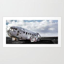 Abandoned DC plane on Sólheimasandur, Iceland Art Print